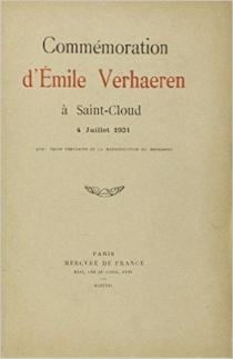 Commémoration d'Emile Verhaeren à Saint-Cloud : 4 juillet 1931 - ÉmileVerhaeren