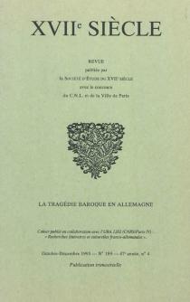 Dix-septième siècle, n° 189 -