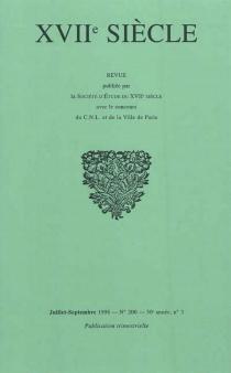 Dix-septième siècle, n° 200 -