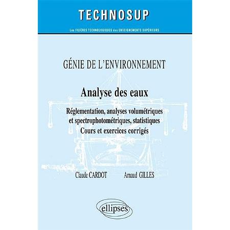 G nie de l 39 environnement analyse des eaux r glementation analyses volum triques et for Genie des eaux