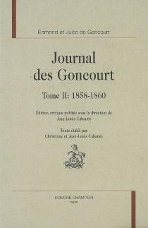 Journal des Goncourt - Jules deGoncourt