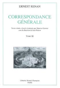 Correspondance générale - ErnestRenan