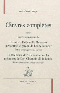 Oeuvres complètes | Volume 8, Oeuvres romanesques, 4 - Alain-RenéLesage