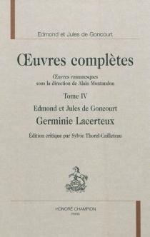 Oeuvres complètes des frères Goncourt| Oeuvres romanesques - Jules deGoncourt
