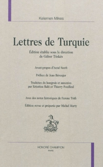 Lettres de Turquie - KelemenMikes