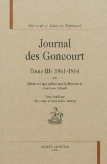 Journal des Goncourt - Edmond deGoncourt