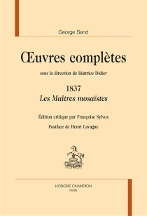 Oeuvres complètes | 1837 - George Sand
