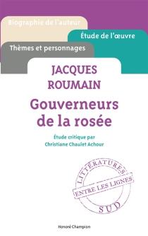 Jacques Roumain, Gouverneurs de la rosée - ChristianeChaulet-Achour