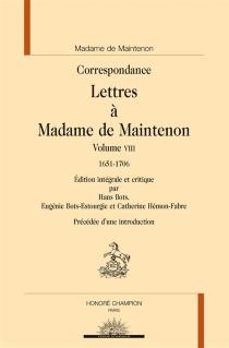 Correspondance| Lettres à Madame de Maintenon -