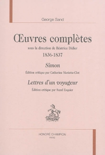 Oeuvres complètes | 1836-1837 - George Sand