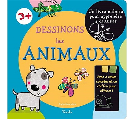 Dessinons les animaux un livre ardoise pour apprendre dessiner livres jeux espace - Paillis ardoise leclerc ...