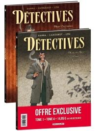Détectives : pack : tomes 1 et 4 - SylvainGuinebaud