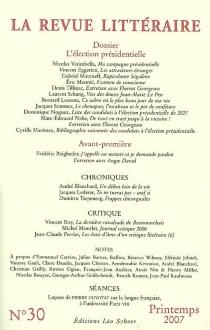 Revue littéraire (La), n° 30 -
