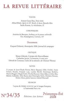 Revue littéraire (La), n° 34-35 -