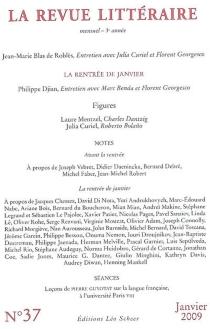 Revue littéraire (La), n° 37 -