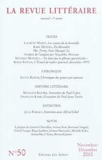 Revue littéraire (La), n° 50 -