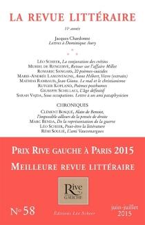 Revue littéraire (La), n° 58 -
