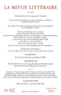 Revue littéraire (La), n° 62 -