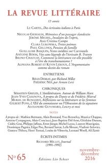 Revue littéraire (La), n° 65 -