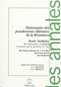 Annales de la Société des amis de Louis Aragon et Elsa Triolet, n° 11 - GeorgesAillaud
