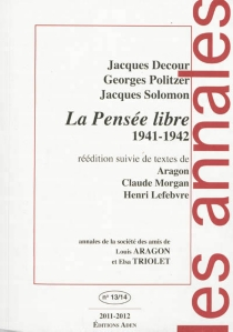 Annales de la Société des amis de Louis Aragon et Elsa Triolet, n° 13-14 - JacquesDecour
