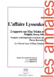 Annales de la Société des amis de Louis Aragon et Elsa Triolet, n° 15 -