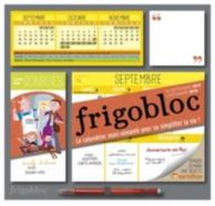Frigobloc : le calendrier maxi-aimanté pour se simplifier la vie ! : de septembre 2017 à décembre 2018