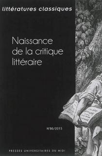 Littératures classiques, n° 86 -