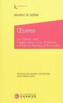 Oeuvres - Maurice deGuérin