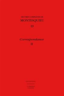 Oeuvres complètes de Montesquieu - Charles-Louis de SecondatMontesquieu
