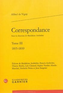 Correspondance - Alfred deVigny