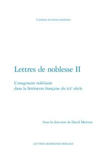 Lettres de noblesse -