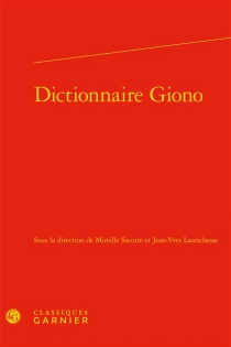 Dictionnaire Giono -