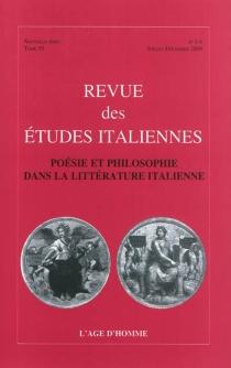 Poésie et philosophie dans la littérature italienne -