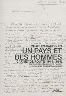 Un pays et des hommes : carnet de route (1915-1919) - CharlesBaudouin