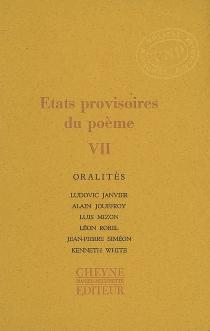 Etats provisoires du poème -