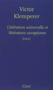 Littérature universelle et littérature européenne - VictorKlemperer