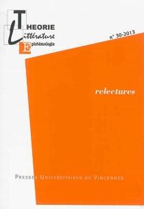Théorie, littérature, épistémologie, n° 30 -