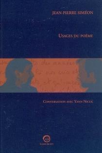 Usages du poème : conversation avec Yann Nicol - YannNicol