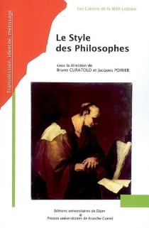 Le style des philosophes -