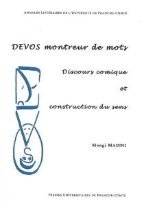 Devos montreur de mots : discours comique et construction du sens - MongiMadini