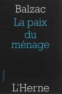 La paix du ménage - Honoré deBalzac