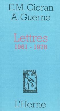Lettres, 1961-1978 - EmilCioran