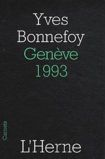 Genève, 1993 - YvesBonnefoy