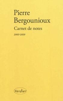 Carnet de notes - PierreBergounioux