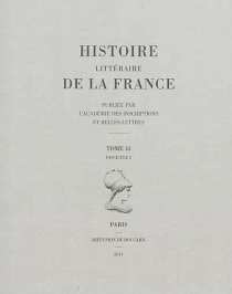 Histoire littéraire de la France -