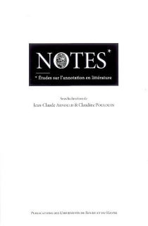 Notes : études sur l'annotation en littérature -