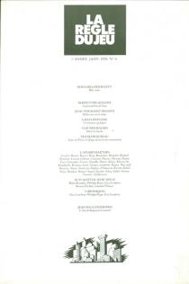 Règle du jeu (La), n° 6 -