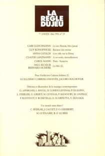 Règle du jeu (La), n° 19 -