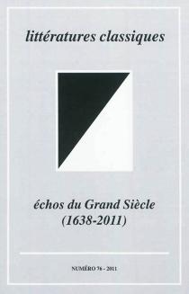 Littératures classiques, n° 76 -